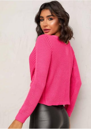 BLUSA TRICOT TORCIDO PINK