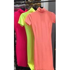 Vestido manga curta Neon